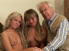 Eradicate affect hottest old and young foursome action